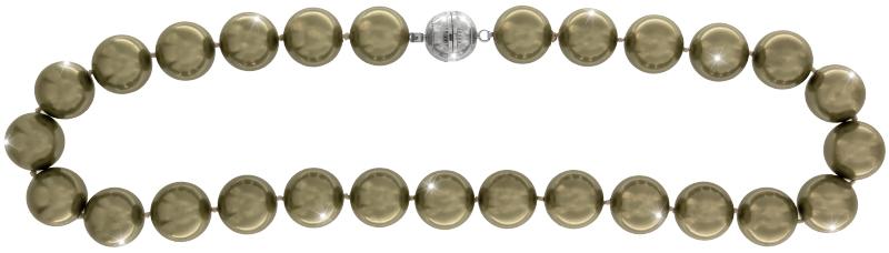 Perlmutt Kette Light Grün 45cm ca.16mm Collier Halskette Mother-of-Pearl MOP14