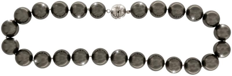 Perlmutt Kette Grau 45cm ca.16mm Collier Halskette Mother-of-Pearl MOP08