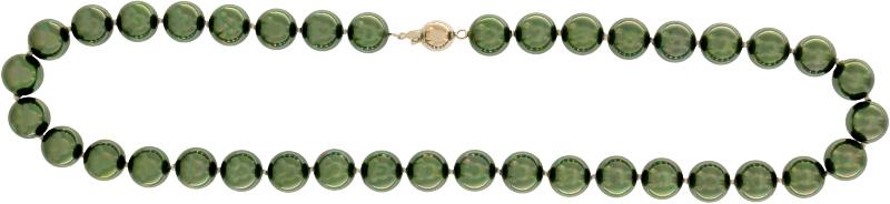 Perlmutt Olive Kette 46cm, ca. 10mm Perlengröße Collier Halskette Mother-of-Pearl MOP02