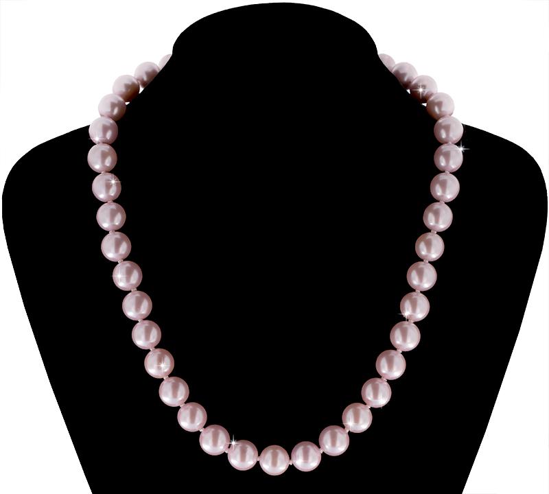 Perlmutt Kette 46cm, ca. 10mm Perlengröße Collier Halskette Mother-of-Pearl MOP01